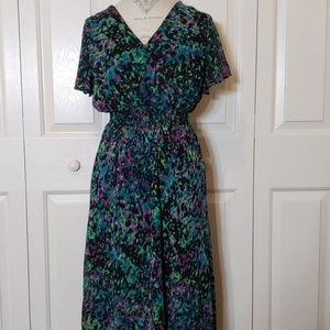 Lane Bryant Flutter Sleeve Dress Size 18